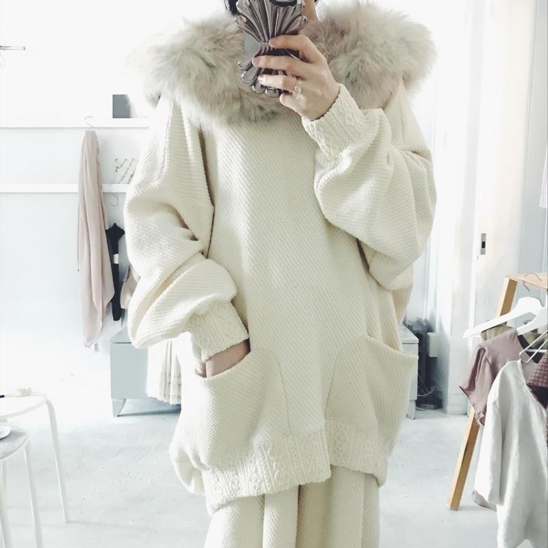 sou-mu  cotton big  pullover