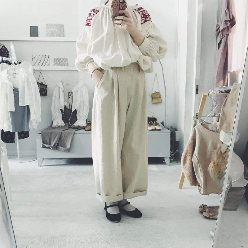 ippei takei  2tuck wide pants 9L