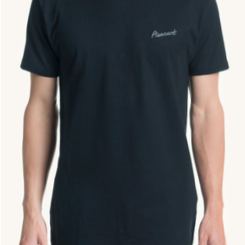 (Pleasant)pleasant chest black tee