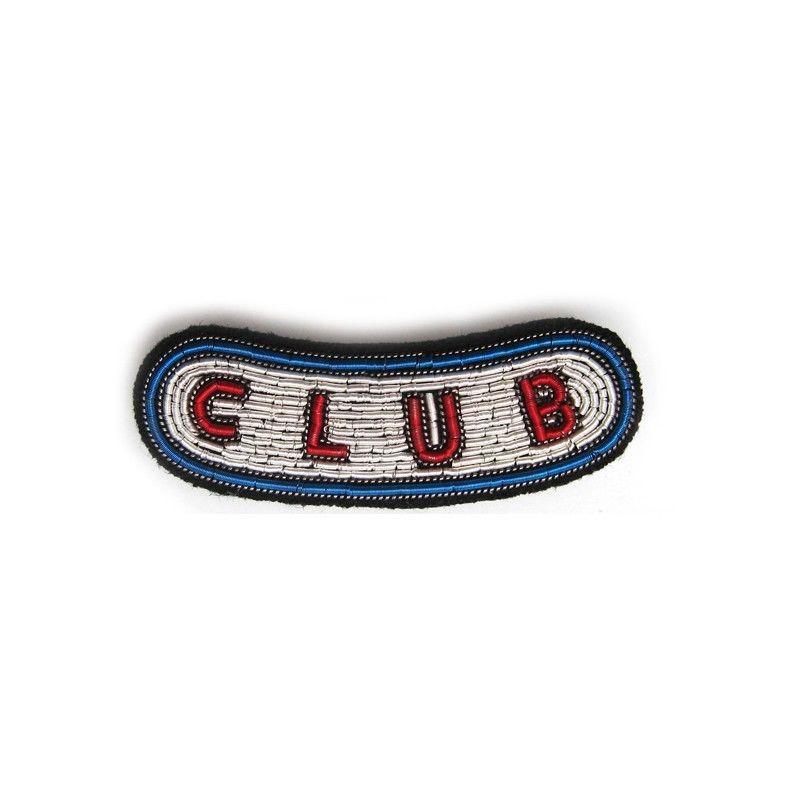 "MEDIUM HAND-EMBROIDERED ""CLUB"" PIN ブローチ"