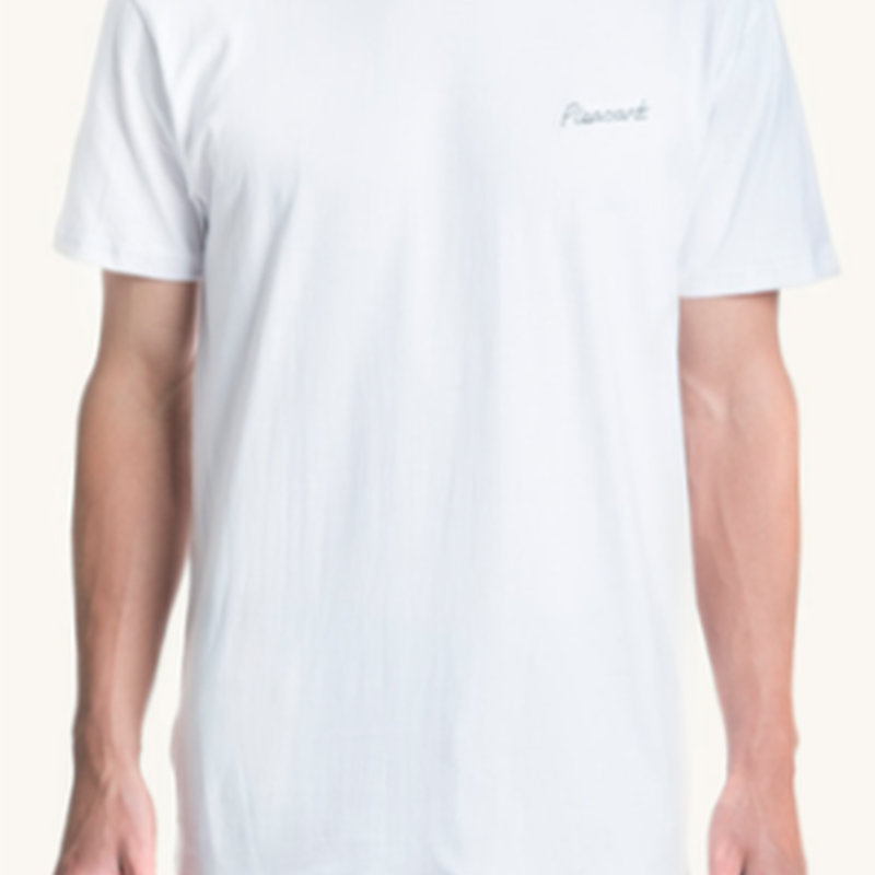 (Pleasant)pleasant chest white tee