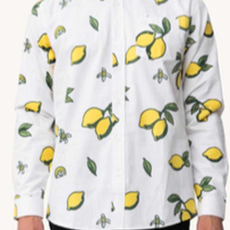 (Pleasant)LEMON FLOWER L/S SHIRT