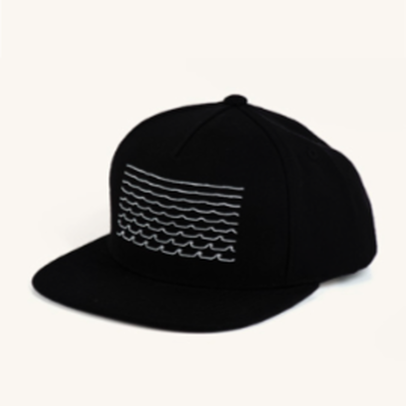 (Pleasant)WAVES BLACK SNAP BACK