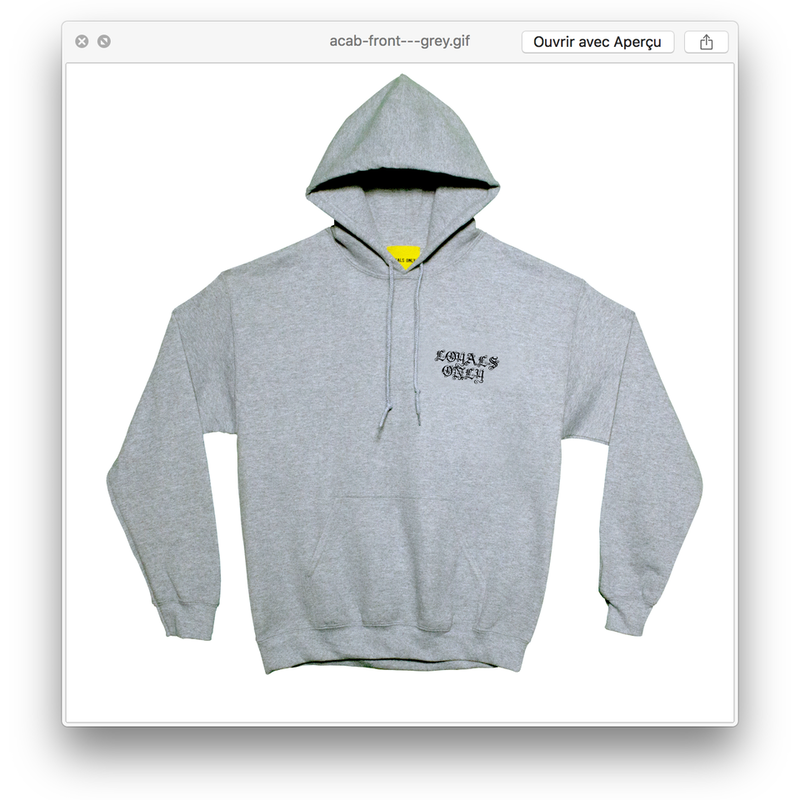 HOTLINE HOODIE heather greay