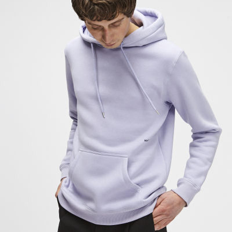 SOULLAND (ソウルランド) LOGIC WALLANCE HOODED SWEAT W. FRONT PRINT - VIOLET