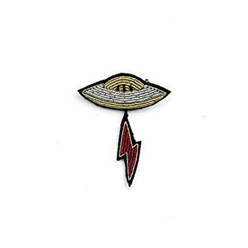 """MACON & LESQUOY マコン・エ・レスコア HAND-EMBROIDERED """"UFO"""" PINブローチ"""