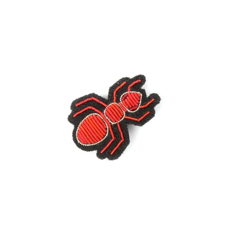 """SMALL HAND-EMBROIDERED """"ANT"""" PIN ブローチ"""