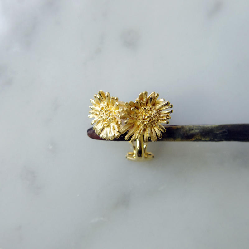 """Harujion earring"" 7分咲き gold"