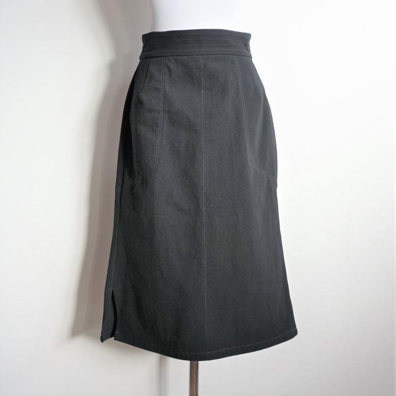 ステッチハイウエストスカート