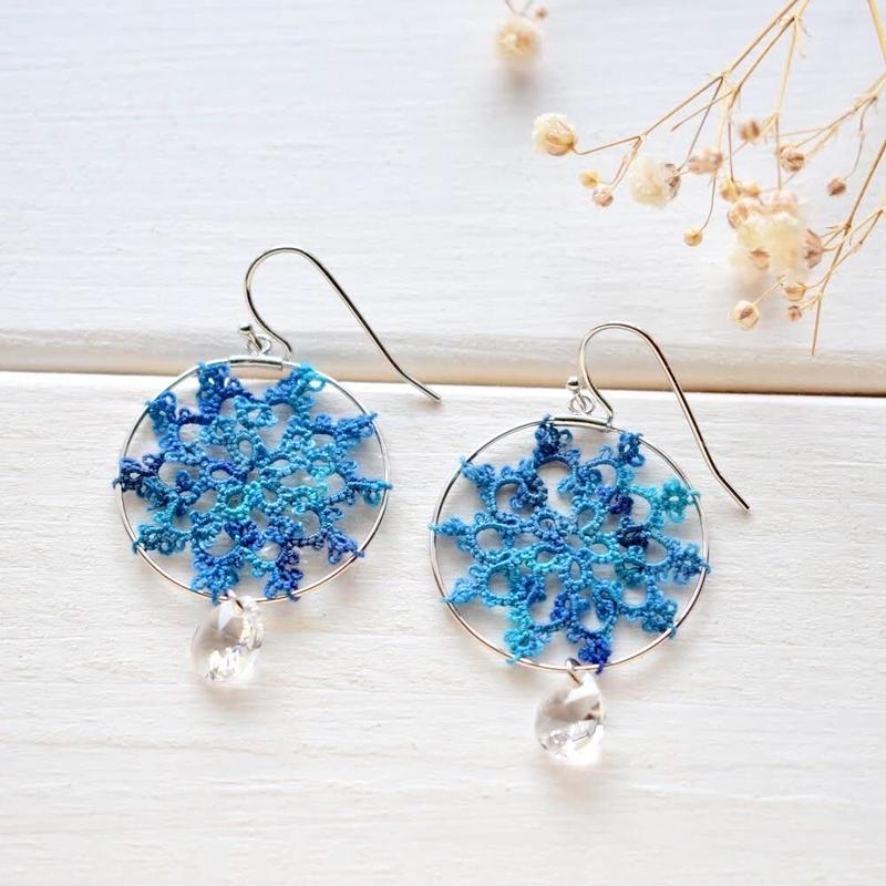 hoop Flower(blue)