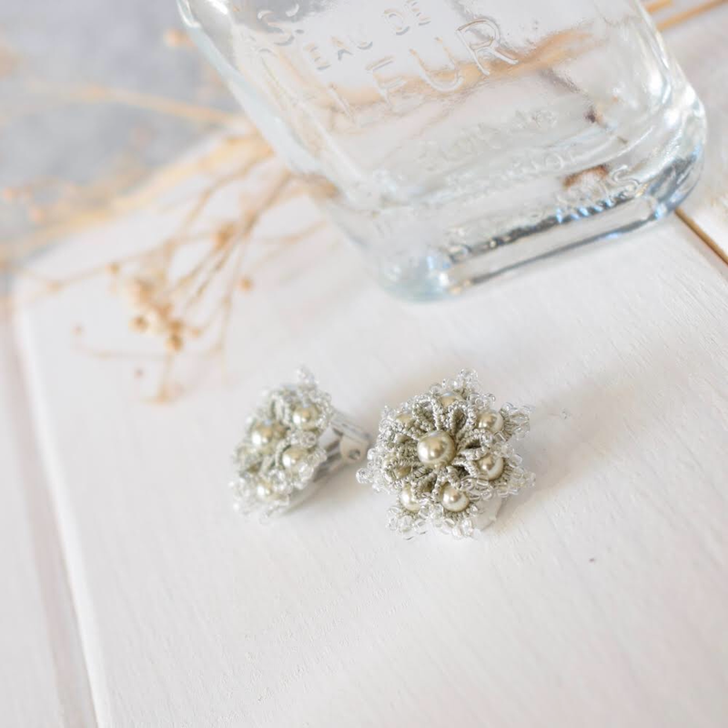 Snow flower(silver) ピアス/イヤリング
