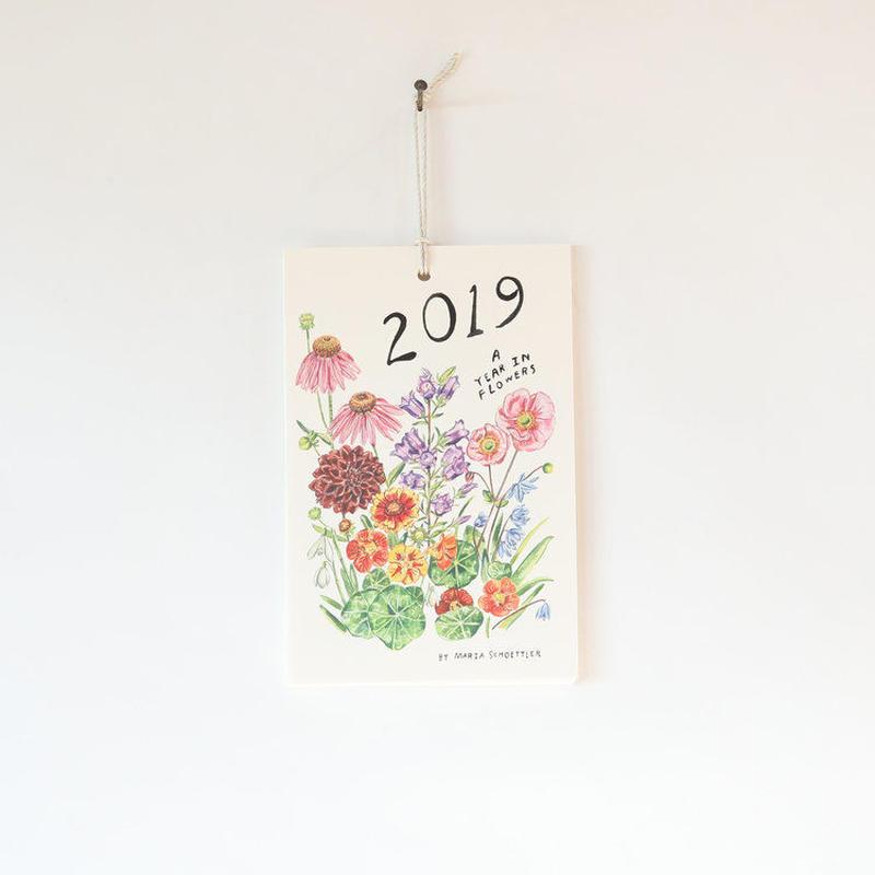 """Maria Schoettler/2019 """"Year in Flower""""  Calendar"""