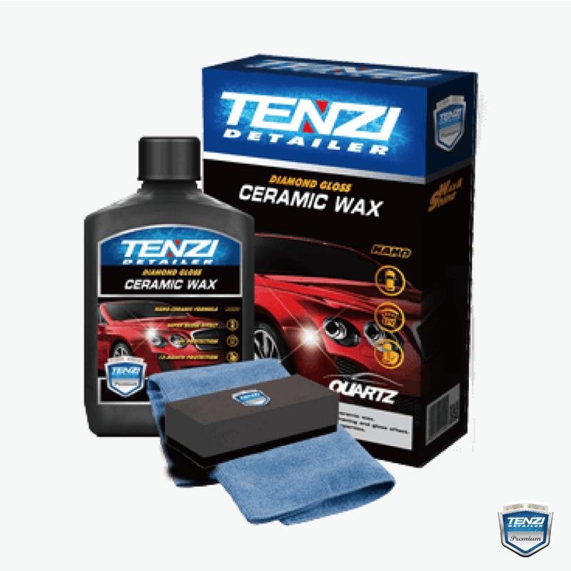 テンジ(TENZI Detailer)[セラミックワックス 一式 300ml] : 最新ナノテクノロジー採用で、ボディの色ツヤを引き出し、光沢を長期間維持。オールカラー(全車色)対応。