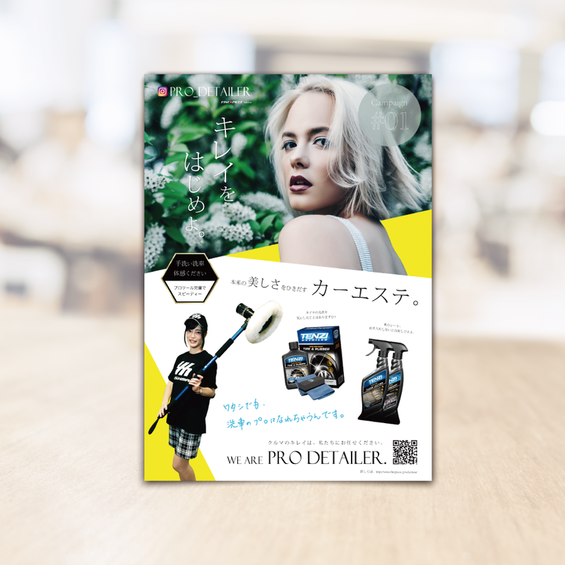 Pro Detailerキャンペーン販促品 - A4チラシ 100枚