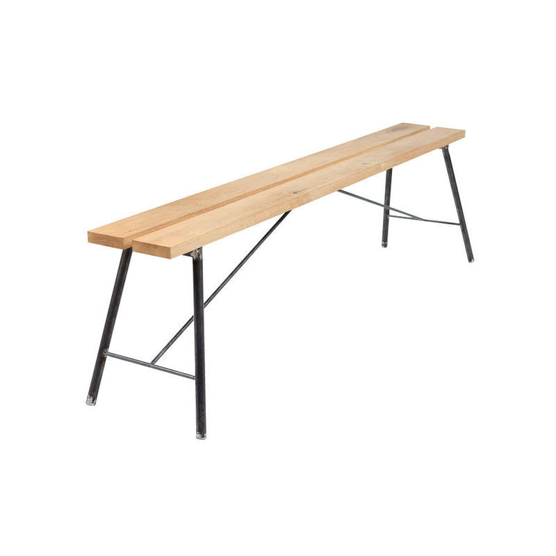 Garden bench ホワイトオーク(2本仕様)『LUSTRUM製』