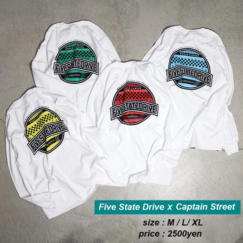 Five State Drive×CAPTAIN STREET コラボL/S Tee