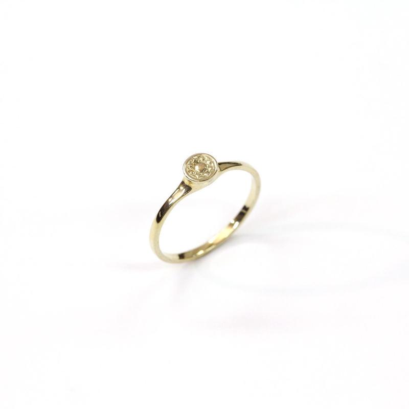 CAV-R02-SV(YG) Carve Diamond Ring R02