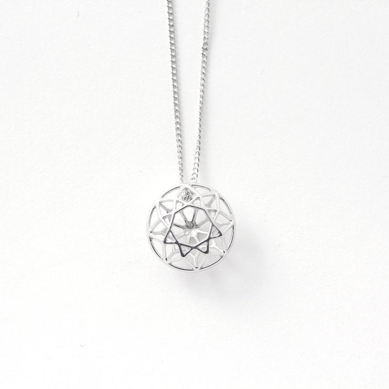 LIJ-N01-S Line Diamond Pendant N01S