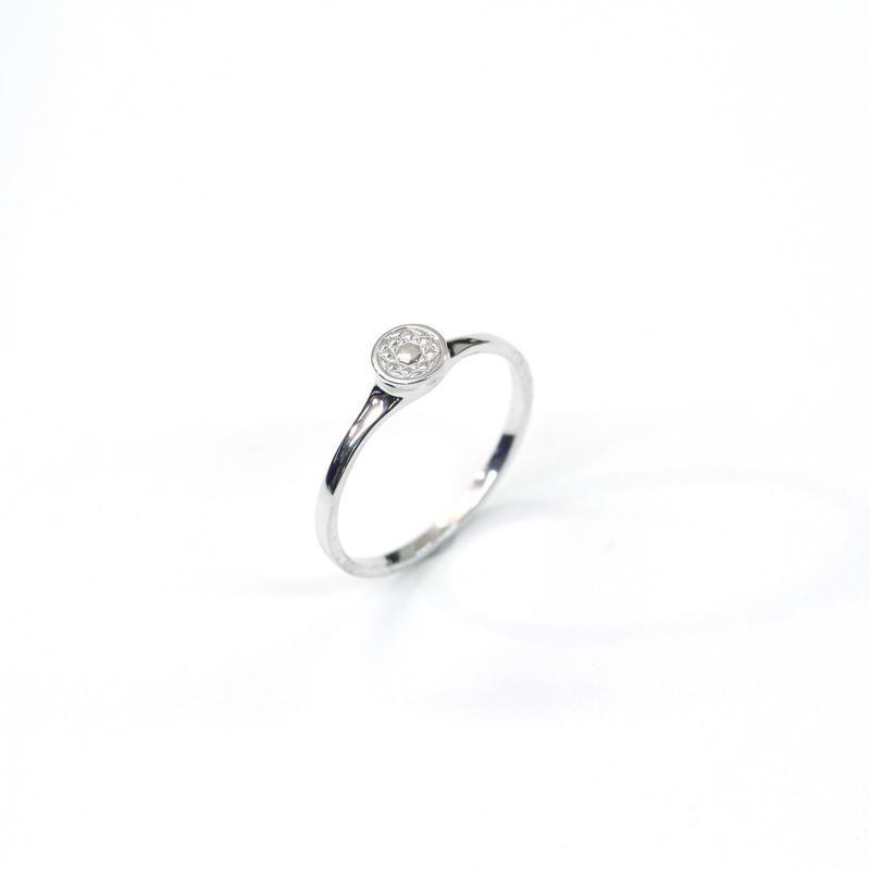 CAV-R02-SV Carve Diamond RingR01