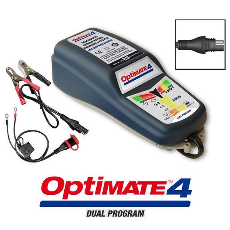 Tecmate Optimate4 バッテリー充電器