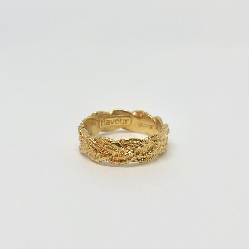 lace braid ring (gold)---028