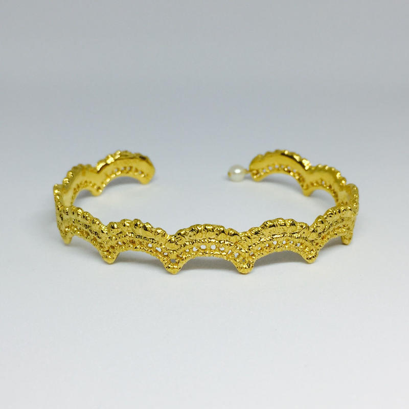 wave bangle(gold)---034-P