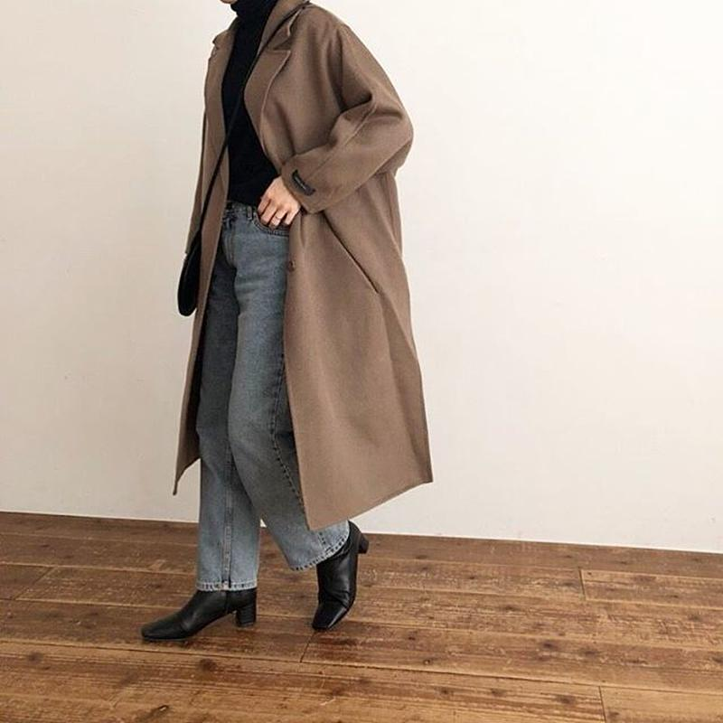 wool mix handmade coat