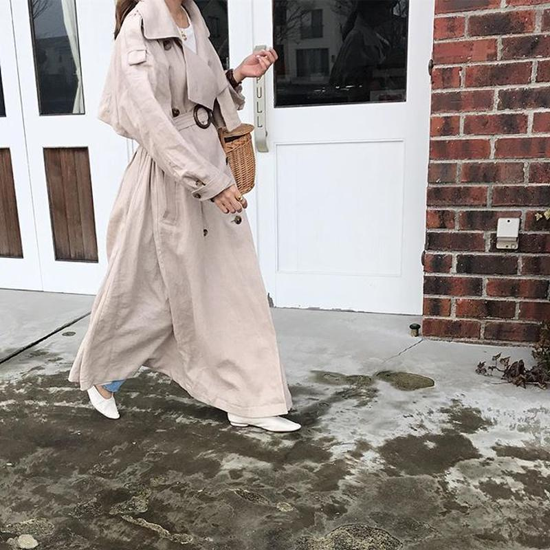 dress linen trench coat