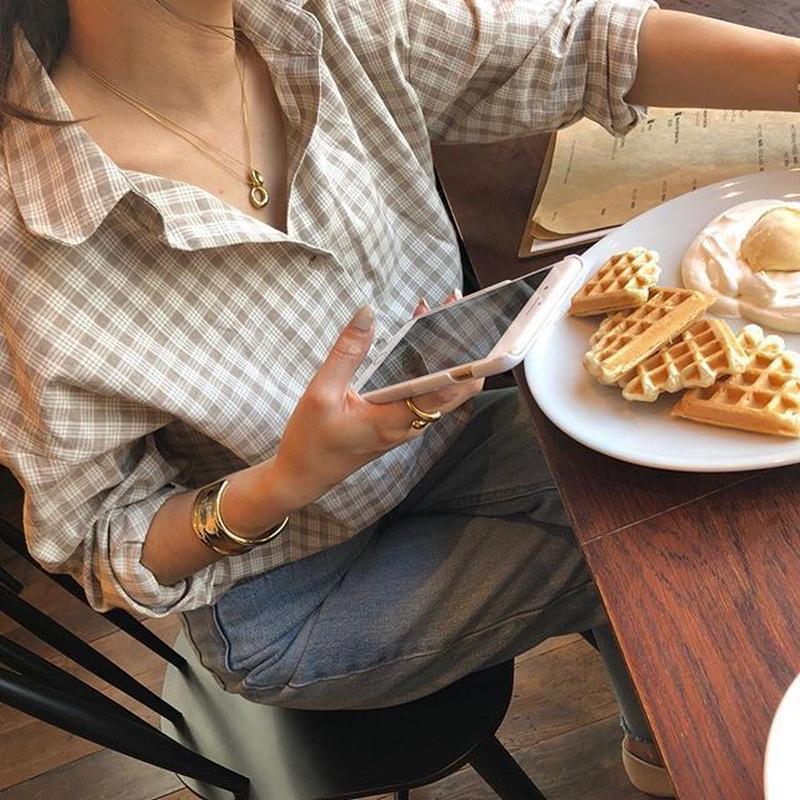 nuance check shirt