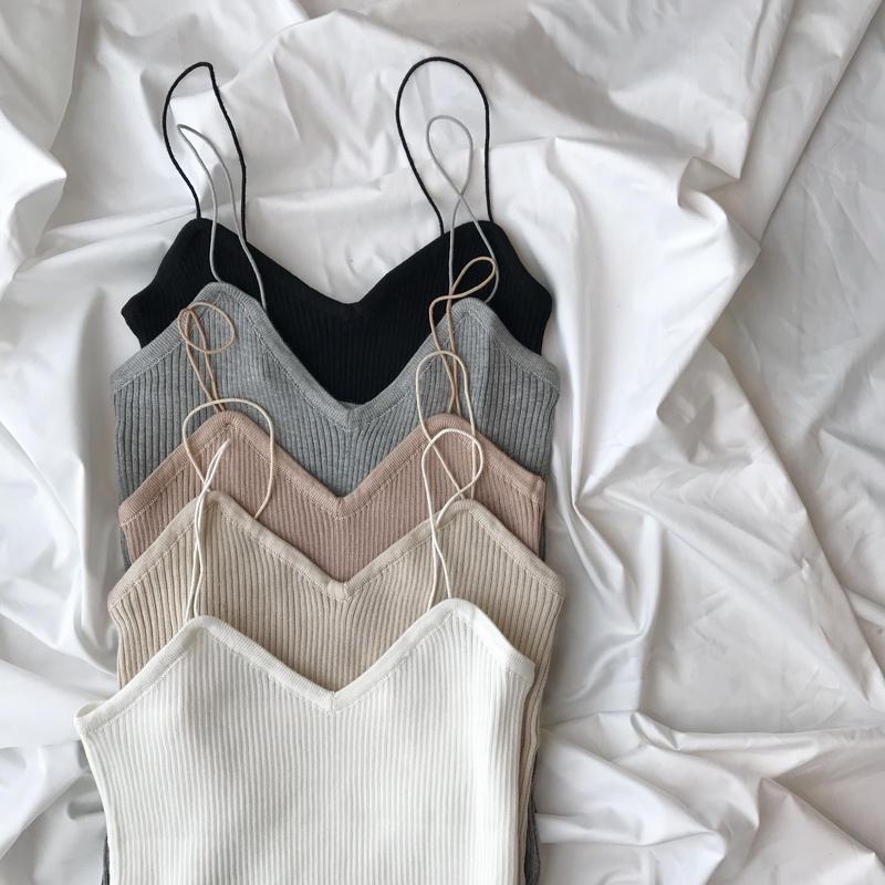 rib knit camisole (5color)