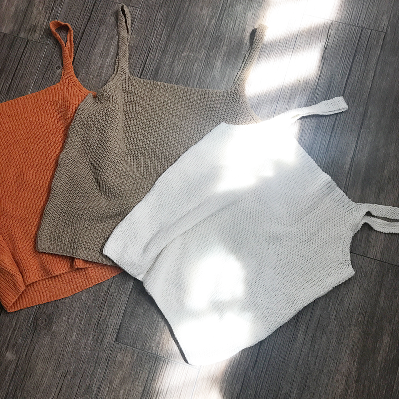 knit camisole (3color)