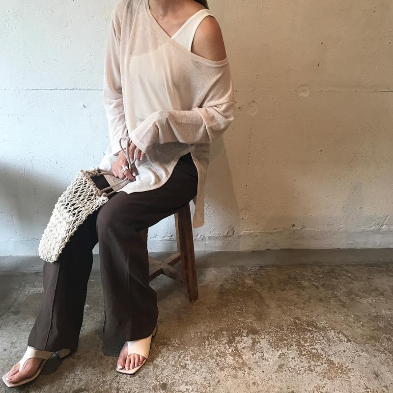 offshoulder summer knit (3color)