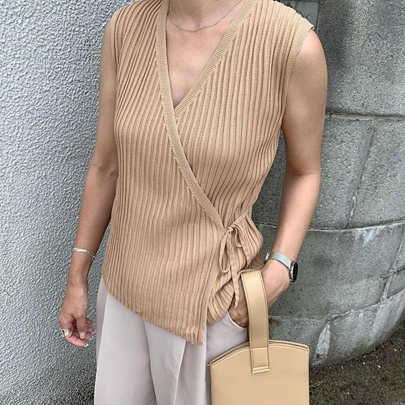 cache-coeur nosleeve knit