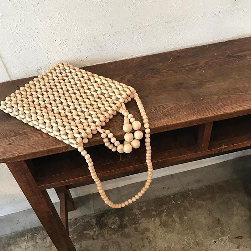 wood beads 2way bag