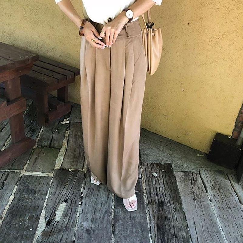 satin nuance color slacks (3color)