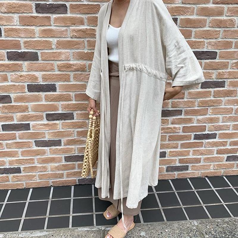 string linen gown