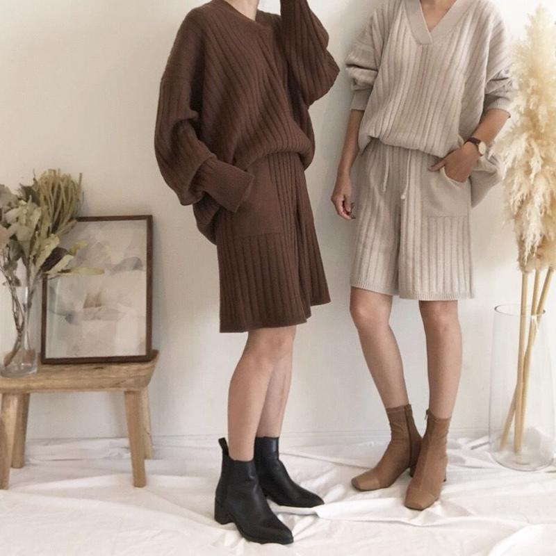 half pants knitup (2color)