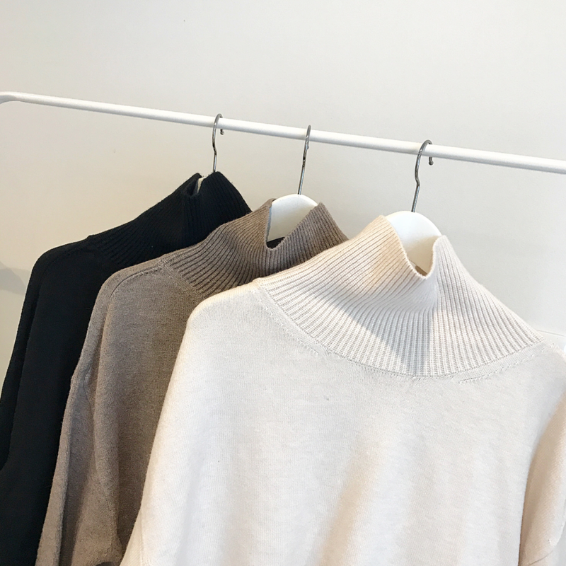 highneck basic knit (3color)
