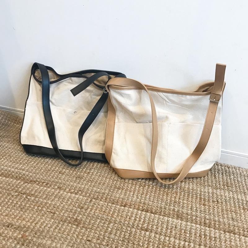 canvas shoulder bag (2color)