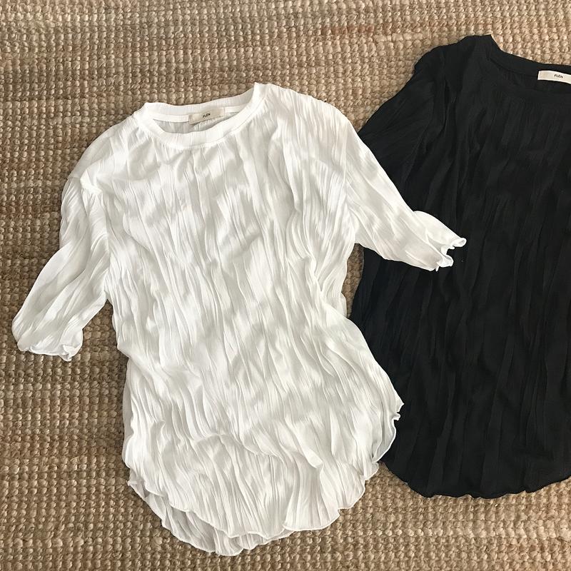 wrinkle t-shirt (2color)