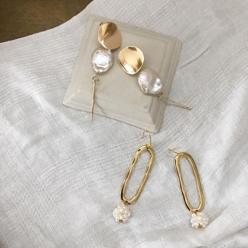 【Lelalité】Freshwater Pearl round pierce