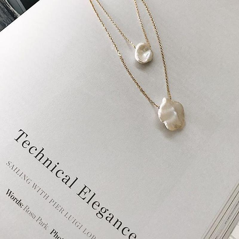 [silver925]Freshwater pearl necklace(2size)