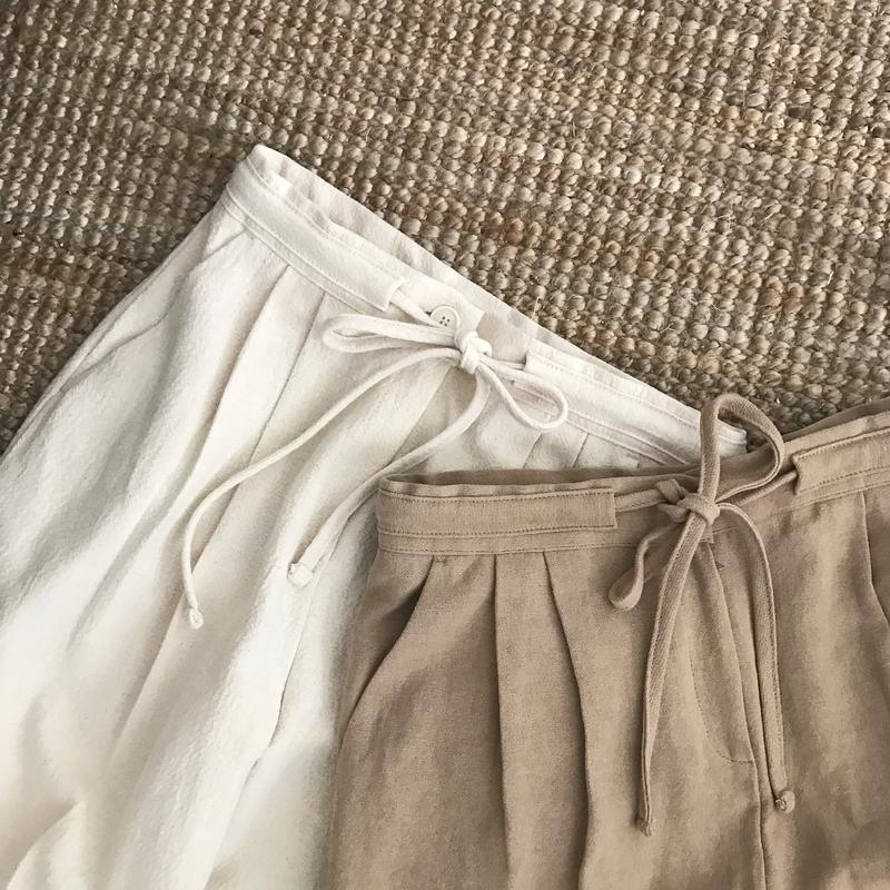center press string pants (2color)