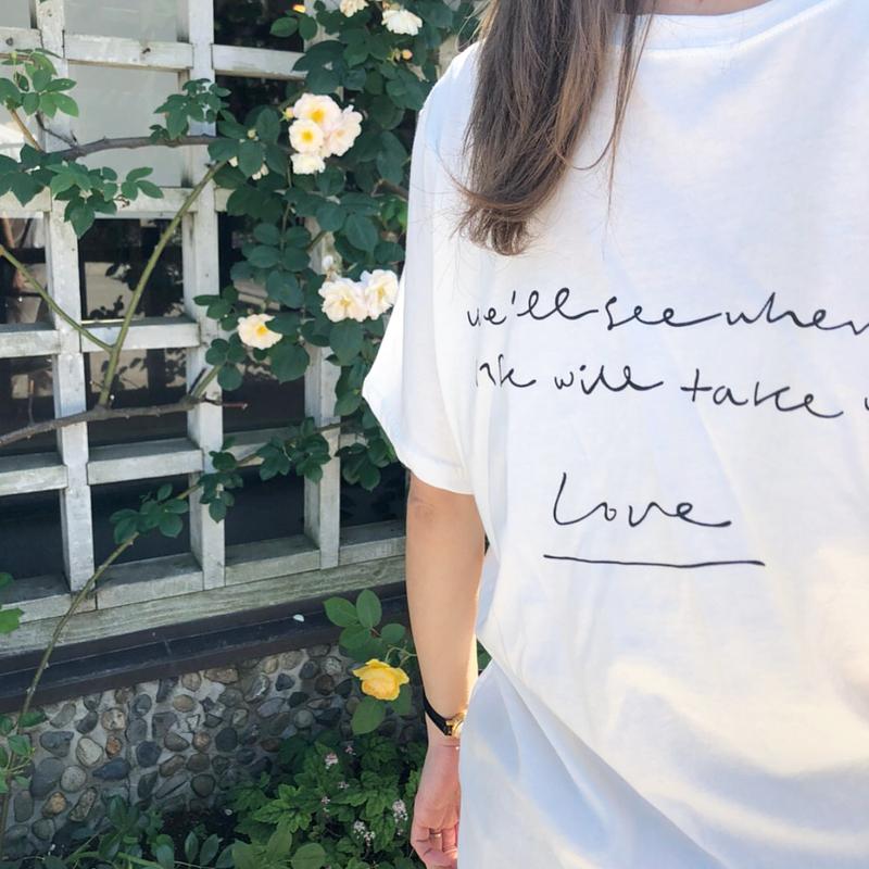 back print message t-shirt