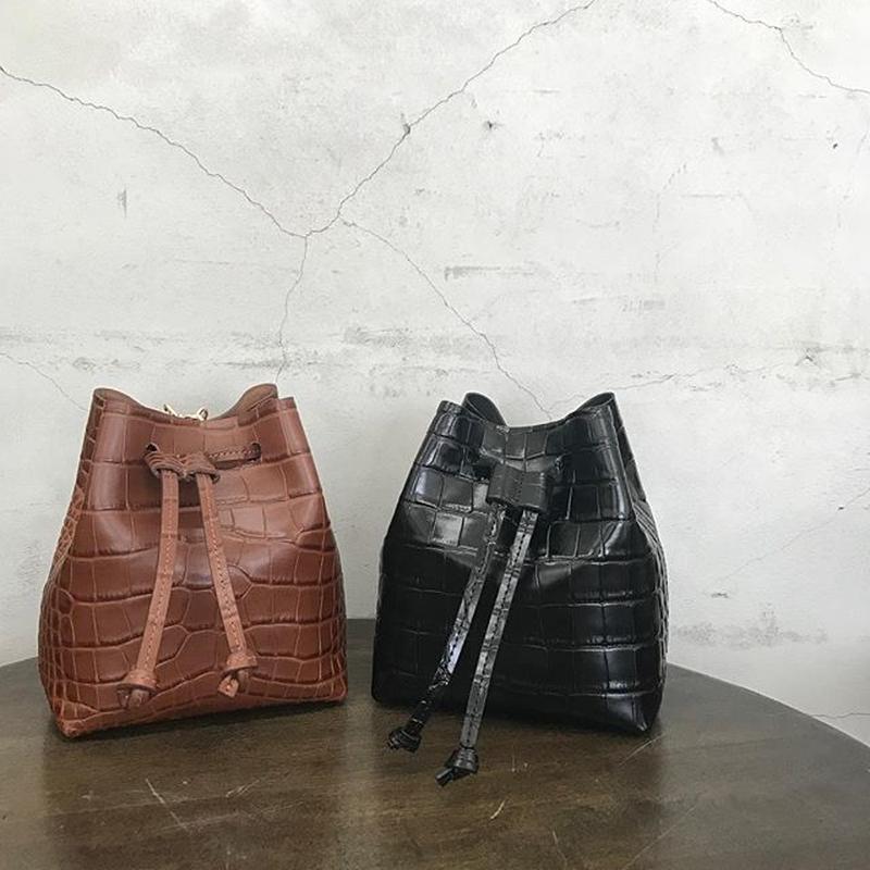 real leather waist belt bag (2color)