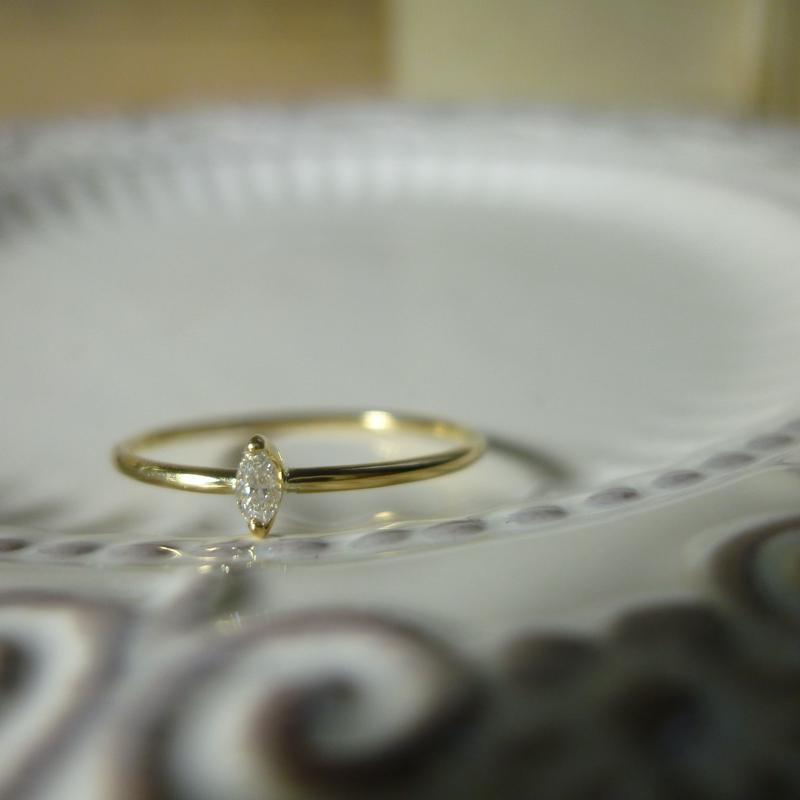 K18 diamond ring #003