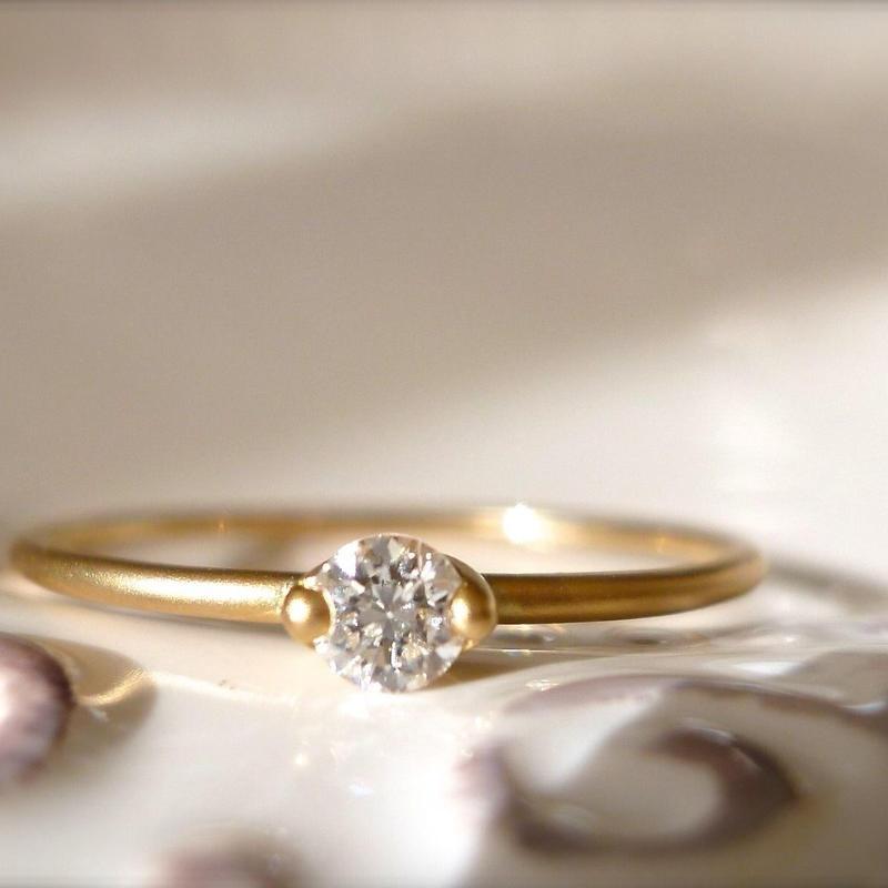 K18 diamond ring #004