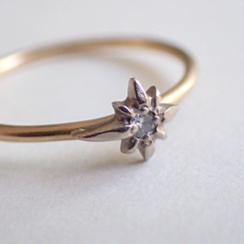 K18 diamond ring #shooting star