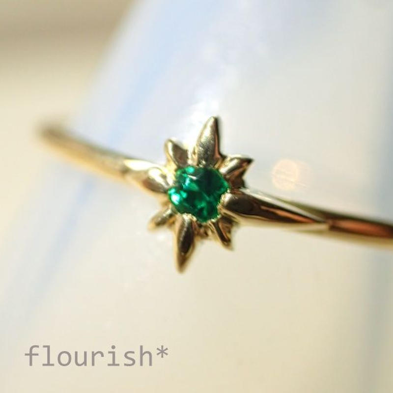 K18 Emerald ring #shooting star