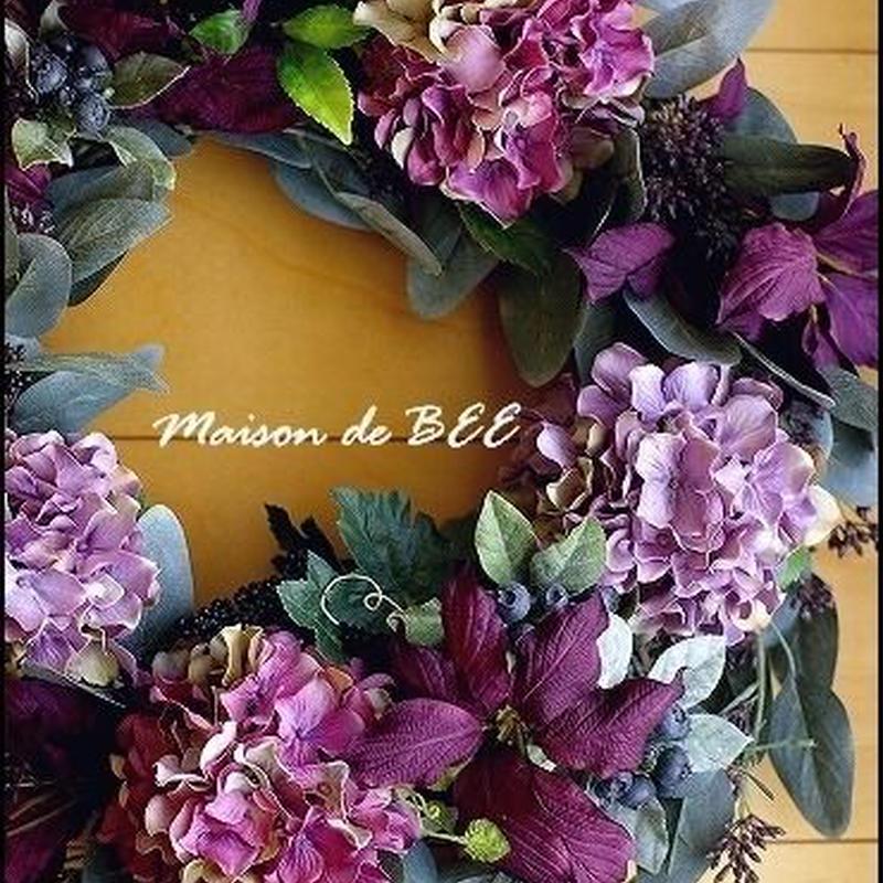 秋色・7種のグリーンフラワーリース